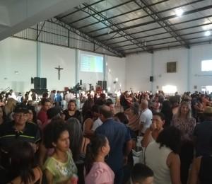 Centenas de pessoas prestigiam festa da Igreja Santa Rita de Cássia