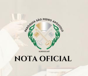 Santa missa aberta aos fiéis é liberada pelas autoridades públicas de Sorriso
