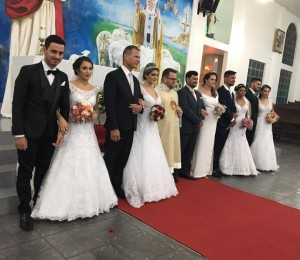Casamento Comunitário: Cinco casais recebem o sacramento do matrimônio