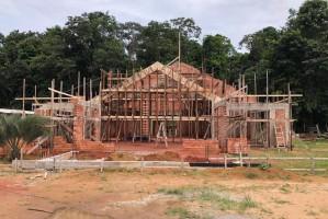 Construção da capela do Seminário Menor São José